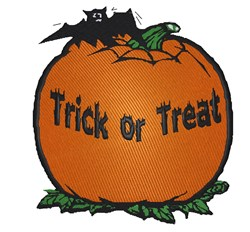 Trick Or Treat Pumpkin embroidery design