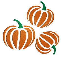 Three Pumpkins embroidery design
