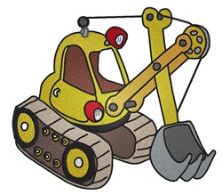 Toy Excavator embroidery design