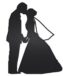 Kissing Bride And Groom embroidery design