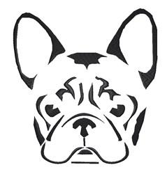 French Bulldog Stencil embroidery design