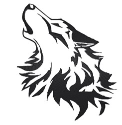 Wolf Head Stencil embroidery design