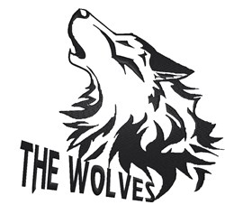 The Wolves embroidery design
