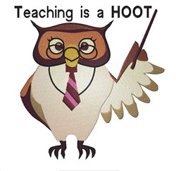 Teaching Is A Hoot embroidery design