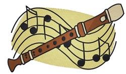 Musical Recorder embroidery design