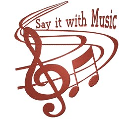 Say It With Music embroidery design