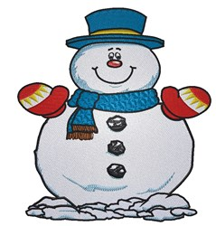 Happy Snowman embroidery design