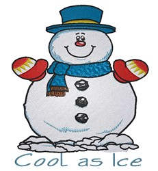 Cool As Ice Snowman embroidery design