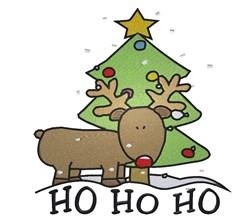 Ho Ho Ho Rudolph embroidery design