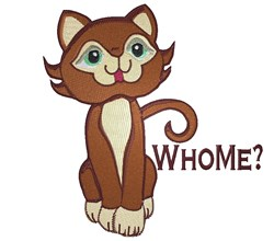 Who Me Kitty embroidery design