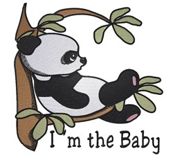 Im The Baby Panda embroidery design