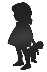 Girl Silhouette embroidery design
