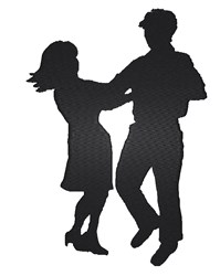 Dancing Couple Silhouette embroidery design