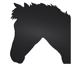 Horse Head Silhouette embroidery design