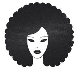 Afro Woman embroidery design