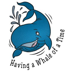 Whale Of A Time embroidery design