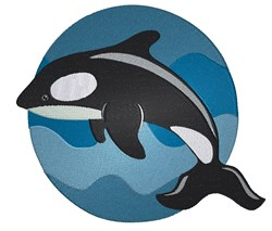 Killer Whale Cartoon embroidery design