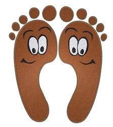 Happy Cartoon Feet embroidery design