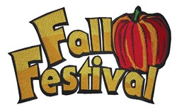 Fall Festival embroidery design