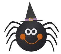 Halloween Spider embroidery design
