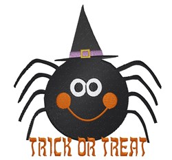 Trick Or Treat Spider embroidery design