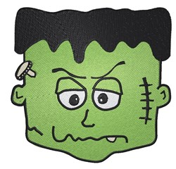 Frankenstein Head embroidery design