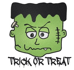 Trick Or Treat Frankenstein embroidery design