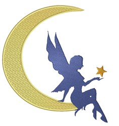 Fairy On Moon embroidery design