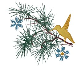 Christmas Branch embroidery design