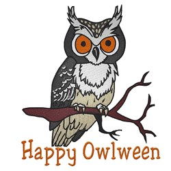 Happy Owlween embroidery design