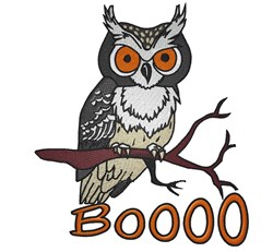 Owl Boooo embroidery design