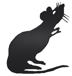 Rat Silhouette embroidery design