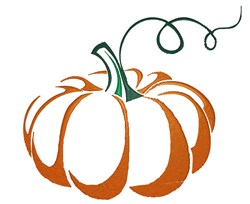 Pumpkin Outline embroidery design