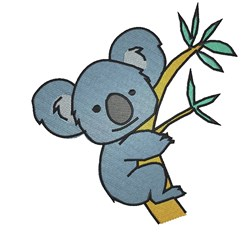 Koala embroidery design