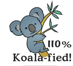 110% Koala-fied embroidery design