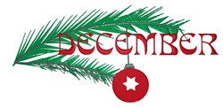 December Ornament embroidery design