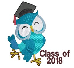 Class of 2018 Owl embroidery design