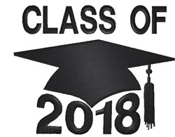 Class Of 2018 Cap embroidery design
