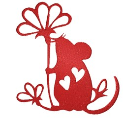 Mouse Silhouette embroidery design
