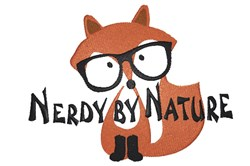 Nerdy By Nature embroidery design