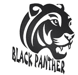 Black Panther Head embroidery design