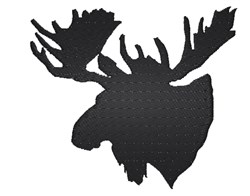 Moose Head Silhouette embroidery design