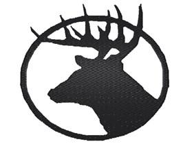 Deer Head Silhoutte embroidery design