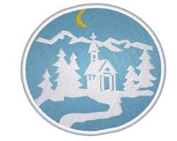 Church Winter Scene embroidery design