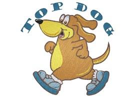 Jogging Cartoon Dog embroidery design