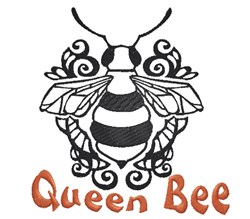 Queen Bee embroidery design