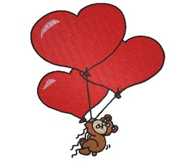 Teddy Bear Valentine embroidery design