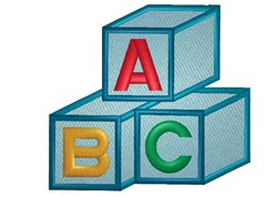 ABC Blocks embroidery design