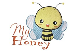 My Honey embroidery design