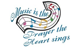 Music Is Prayer embroidery design